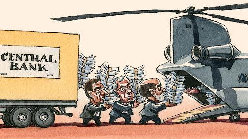 Helicopter money: la distribuzione dei soldi per aumentare il potere di acquisto del popolo se fallisce il sistema economico